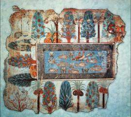 Fonte no Jardim, Afresco encontrado na Tumba de Nebamun.